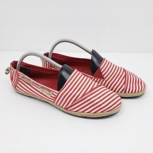 Nautica Rudder 2 Espadrille Flats Stripe Shoes